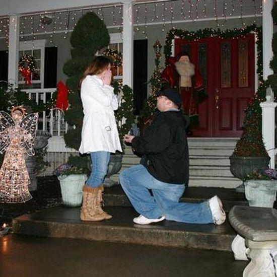Christmas Holiday marriage proposal