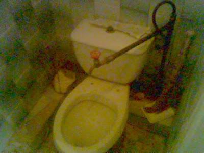 Star Wars Walker Drinking From Toilet. Toilet Humor