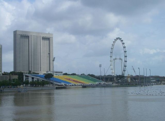 the floating stadium of singapore @ strange world