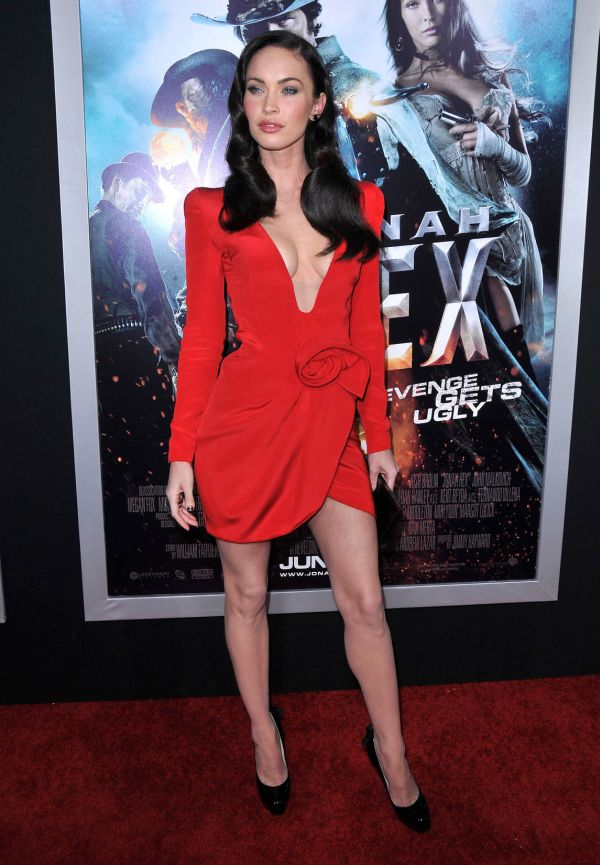Megan Fox 2010 Red Dress