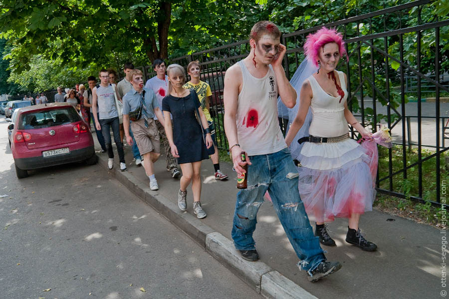 Zombie wedding in russia damn cool pictures