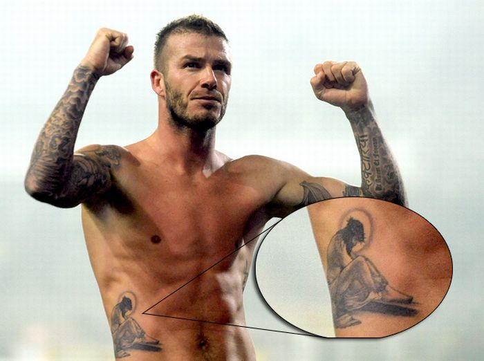 david beckham tattoos. David Beckham Tattoo