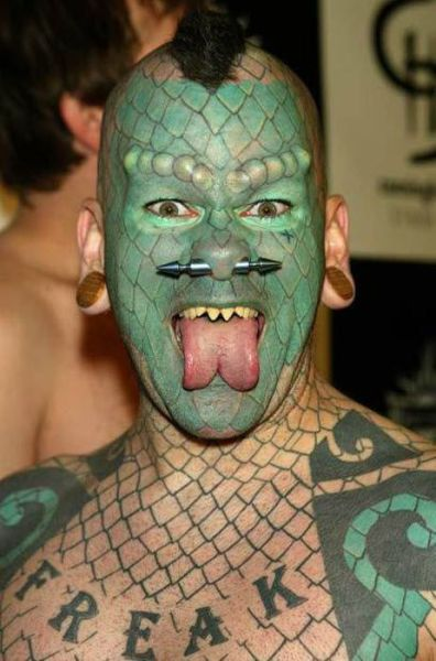 number 23 tattoo. Insane Face Tattoos