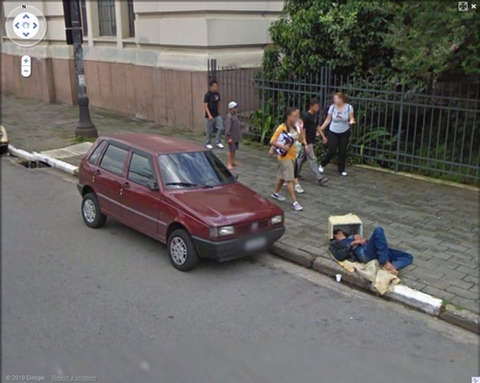 how to change google street view image