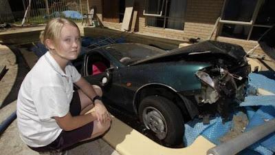 حوادث قيادة النساء للسيارات