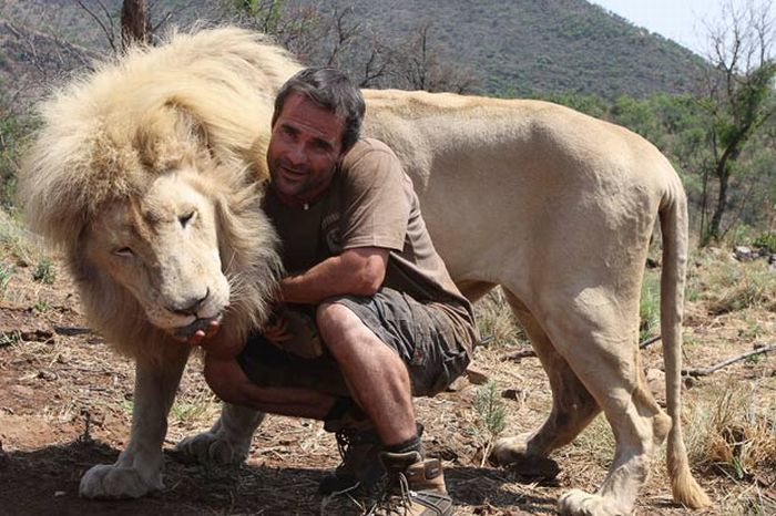 Animals Black And White Elephants 10000 Lions Big Cats: Cool Animals Pictures: The Lion Whisperer