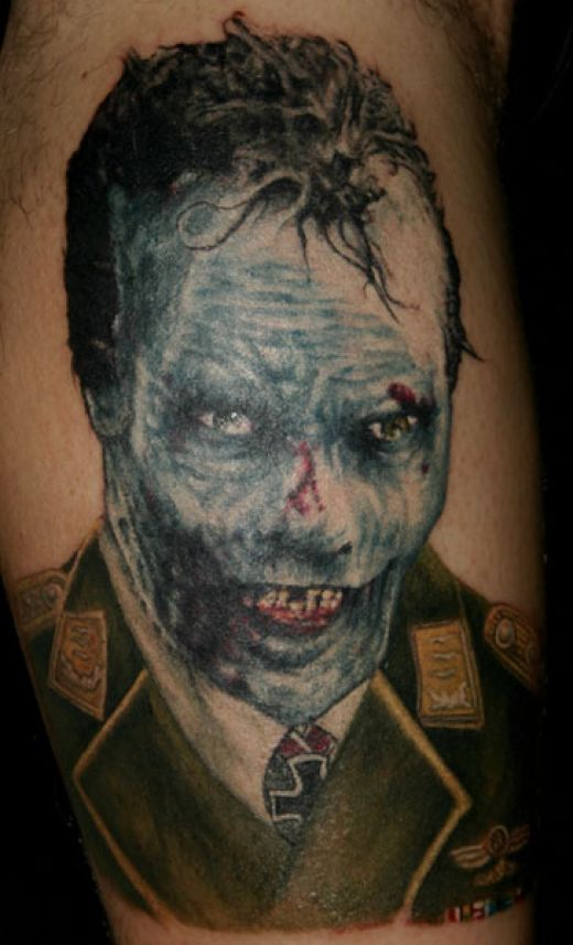 20 gruesome zombie tattoos damn cool pictures