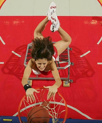Slam dunking NBA girls pics