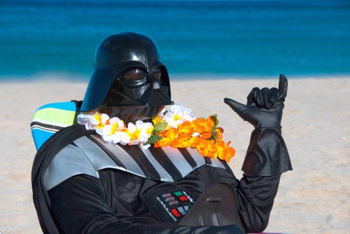 Great Job Aaron Darth Vader S Hawaiian Vacation