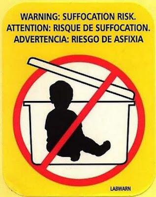 Of dat je van plan zou zijn je baby in deze doos te stoppen