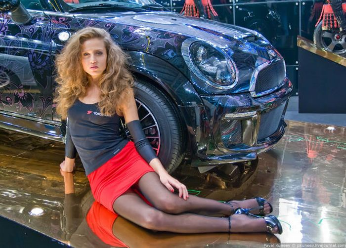 Girls of Moscow International Automobile Show Photoshoot images
