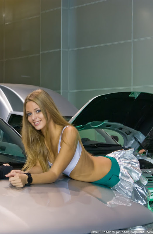 Girls of Moscow International Automobile Show hot photos