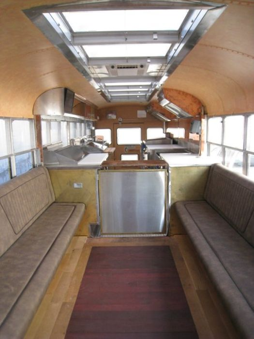 Painting School Bus Interior