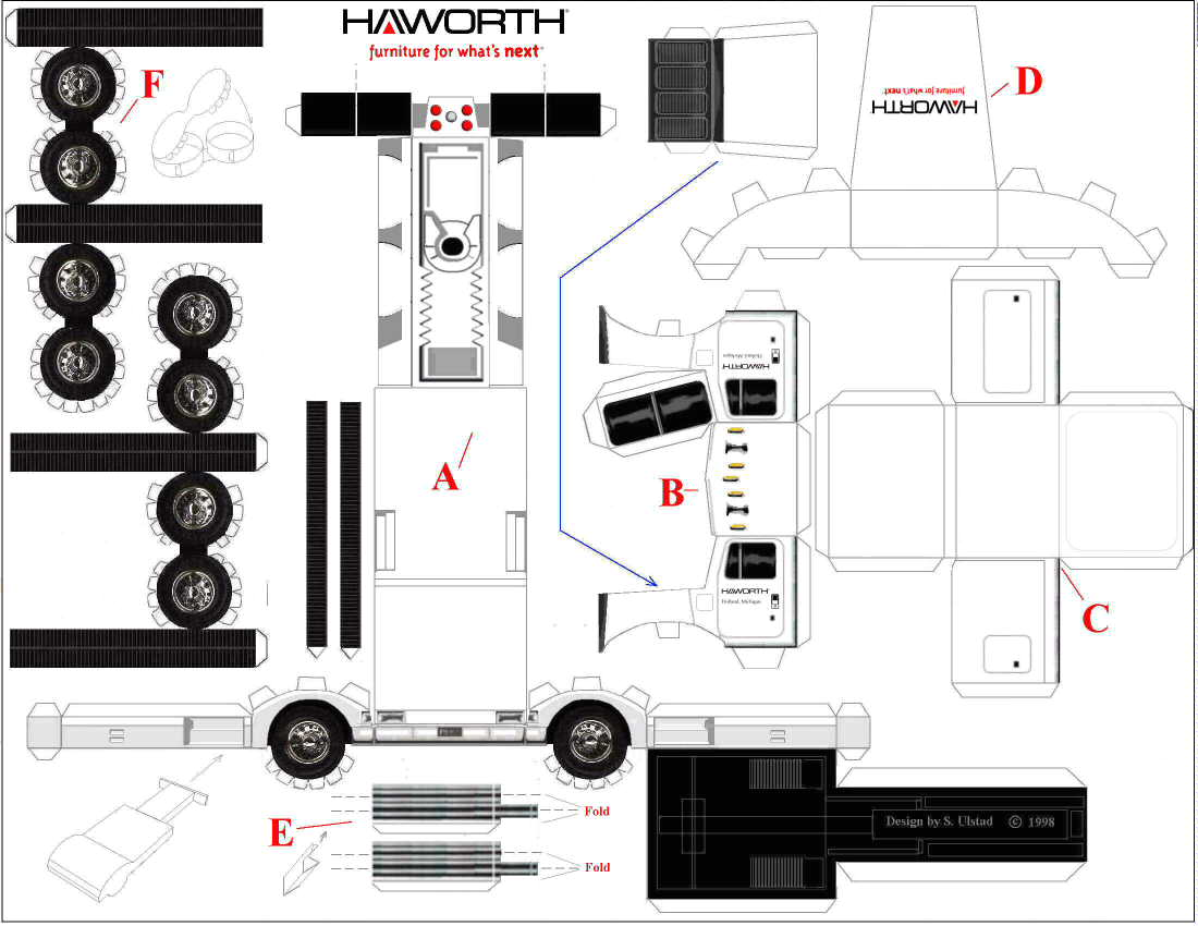 Collectionpdwn Papercraft Truck Templates on 1944 Ford Pickup Truck