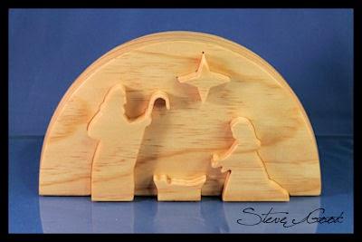 Scrollsaw workshop bevel cut nativity scene for Nativity cut out patterns wood
