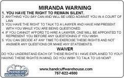 Rare image within miranda warning card printable