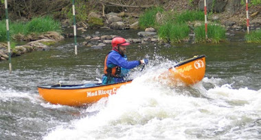 Running a whitewater slalom course