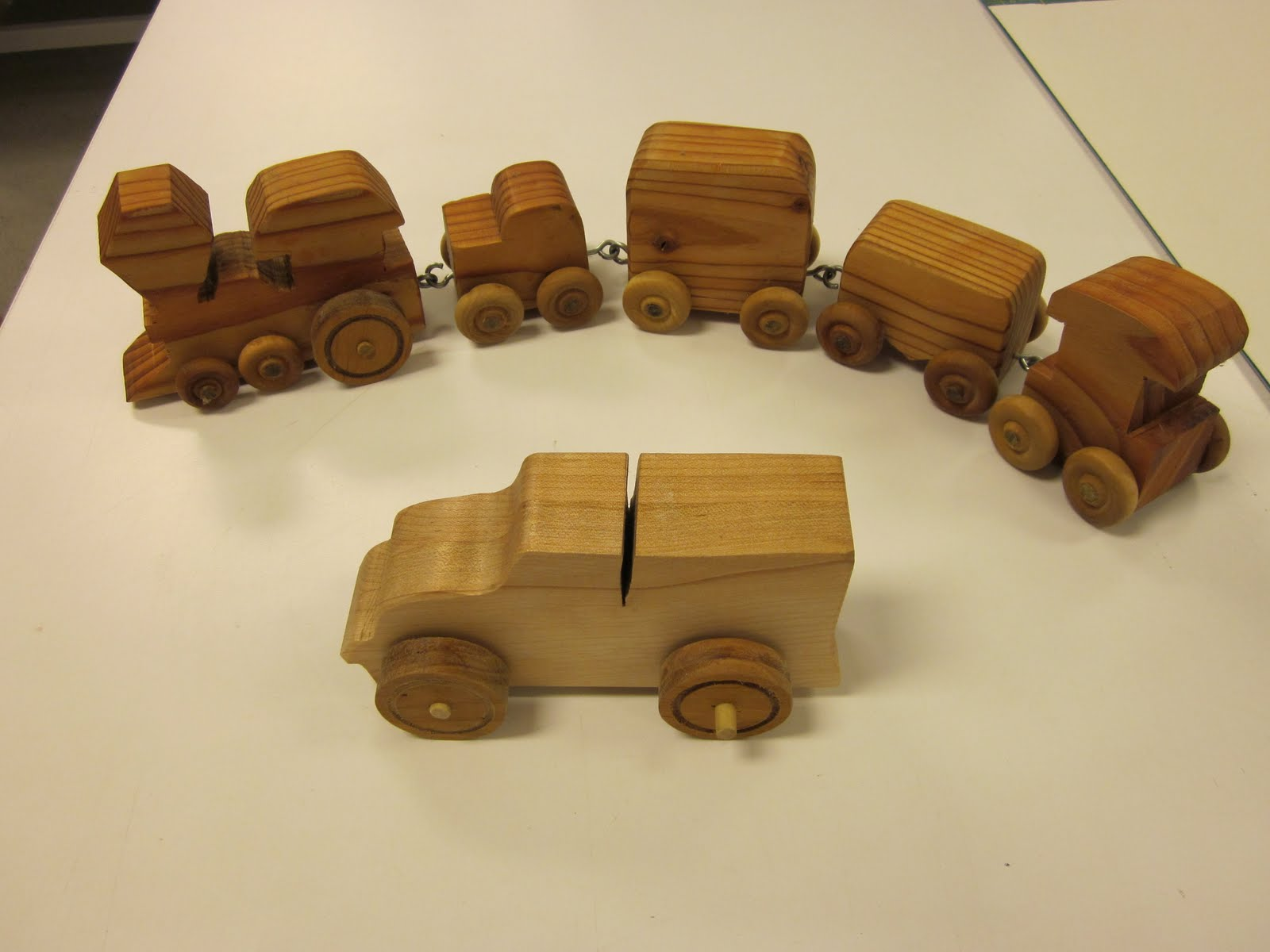 ... of various wooden toys some were simple blocks and others were