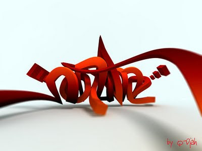 3D, graffiti tribal, graffiti letters