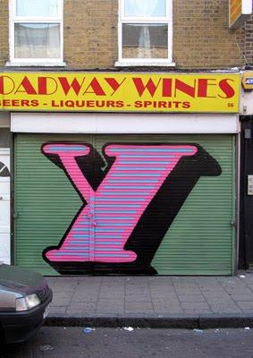 graffiti, letter Y