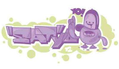 purple bubble letters 3
