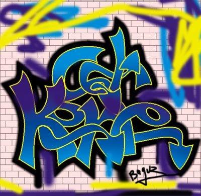 graffiti alphabet, jawa