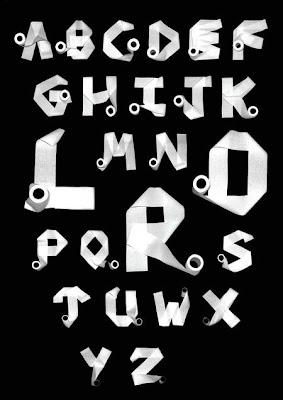 paper, graffiti alphabet
