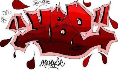 Blood Symbol On Graffiti