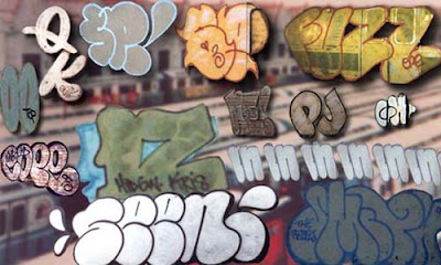 graffiti bubble letters