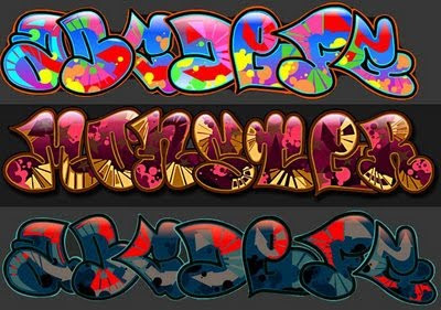 Printable bubble letters full of color and light