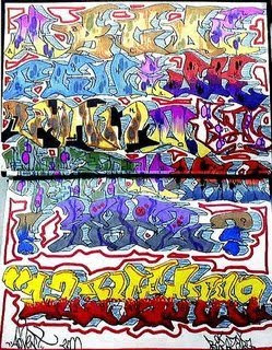 graffiti alphabet supercolors