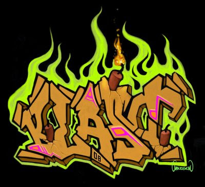 abesedario en graffiti. Style of graffiti art in the