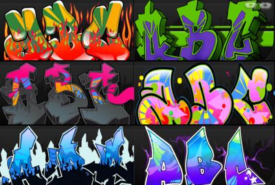 Graffiti Creator Alphabet At The End Of The Year3