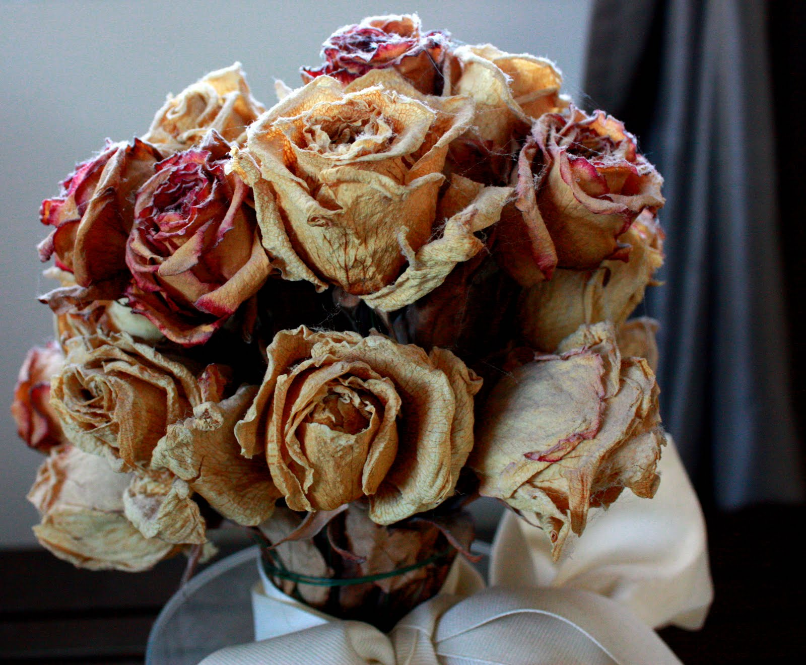 what to do with dried flower boquets.