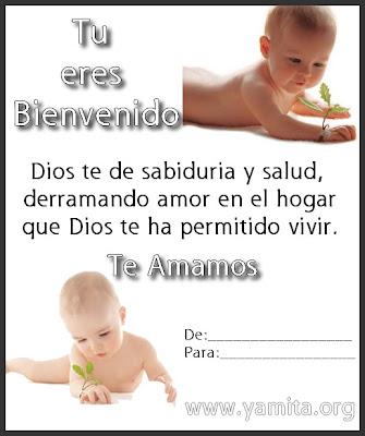 Una tarjeta para poderla regalar a un niño que Dios le ha dado la