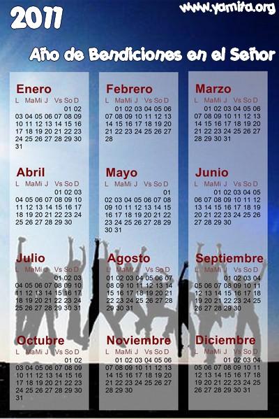 calendario cristiano 2011 temas y devocionales cristianos