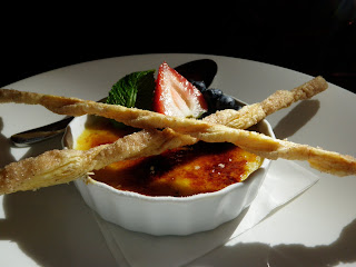 Pear and Cardamom Creme Brulee