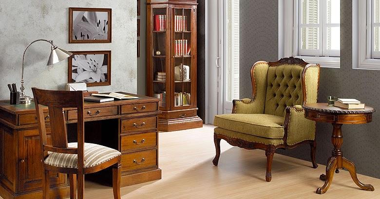 Muebles de oficina por la decoradora experta despacho vintage - Decoracion de despachos ...