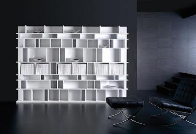 3 librer as 3 estilos - Librerias salon blancas ...