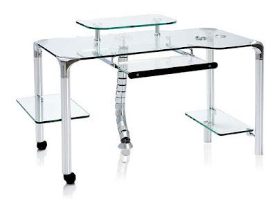 Mesas para el ordenador - Mesa ordenador cristal ...