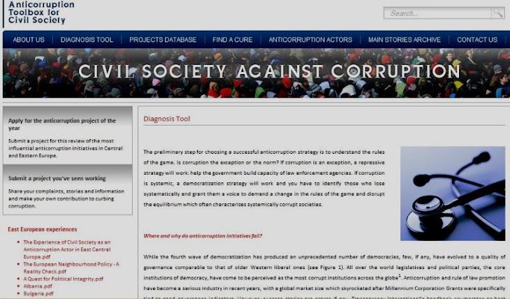 Societatea civilă împotriva corupţiei