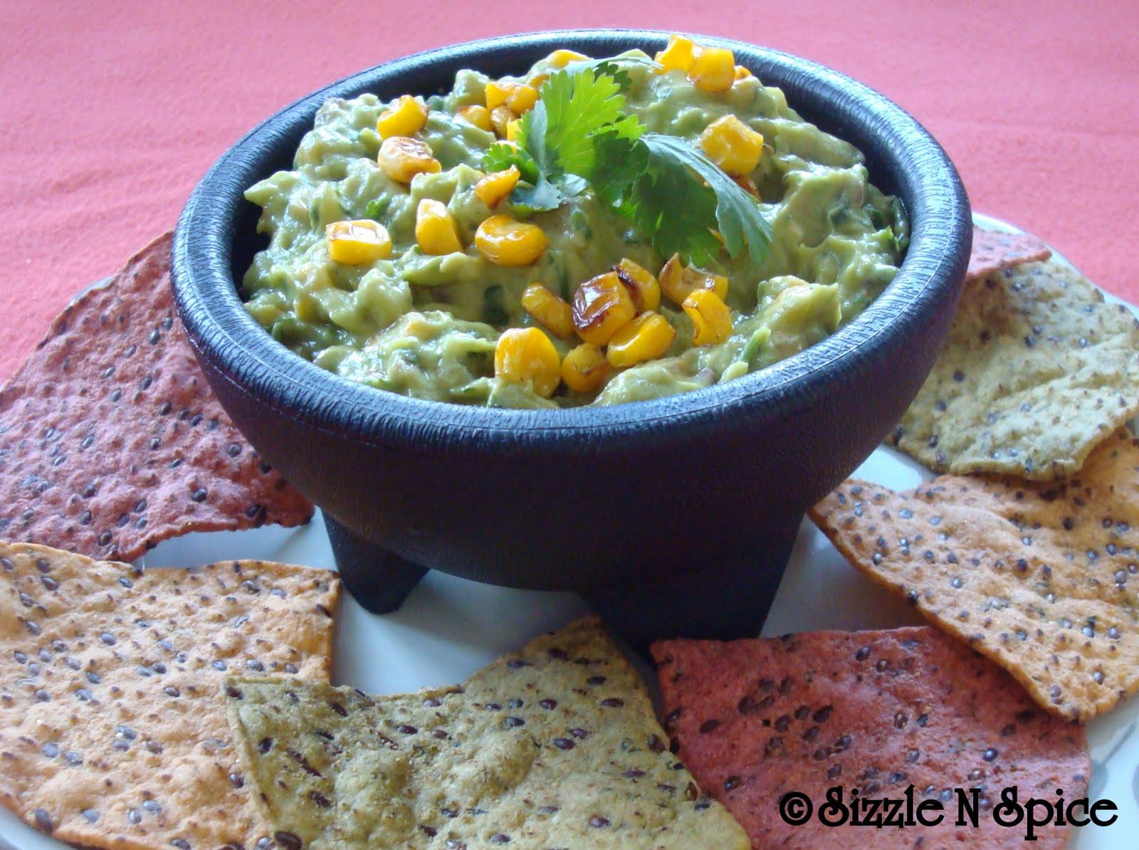 Sizzle N Spice: Roasted Corn Guacamole