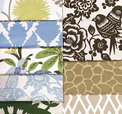 Chic geek fabric inspirations for Modern home decor fabric prints