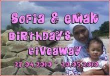 Sofia & Emak Birthday's Giveaway