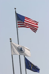 Butler University flag poles