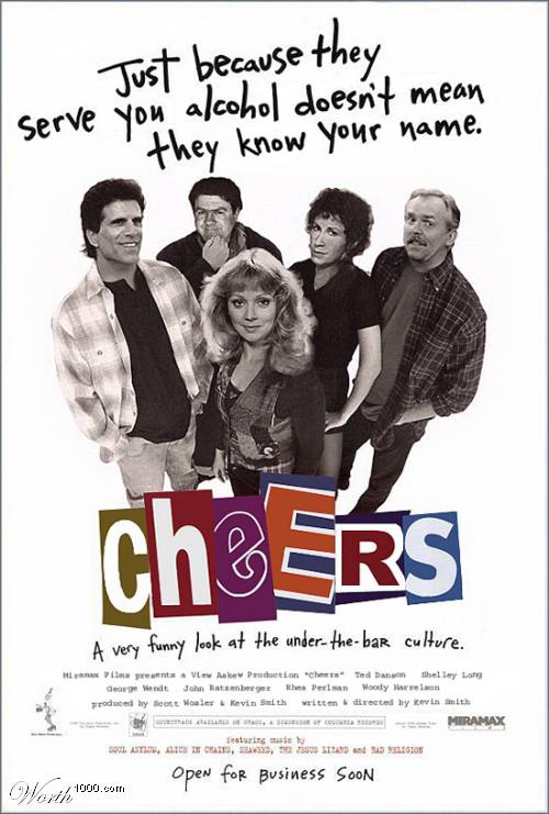 Worth1000.com's Cheers/Clerks mash-up