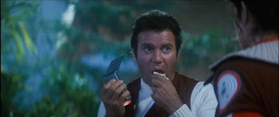 Young Kirk's apple in the 2009 Star Trek is a shout-out to this Wrath of Khan scene.