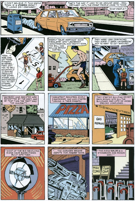 Larry Hama's deceptively nice suburb of Springfield beats David Lynch's equally deceptive Blue Velvet town of Lumberton to the punch by three years in G.I. Joe #10 by Hama, Mike Vosburg and Chic Stone.