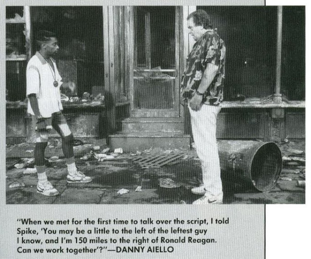 Spike Lee and Danny Aiello, from Lee's Do the Right Thing companion book