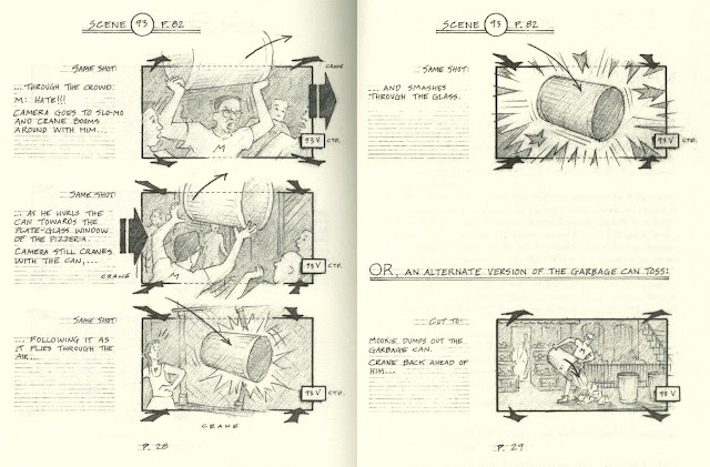 Jeff Balsmeyer's storyboards for Mookie's garbage can toss